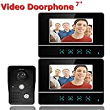 OPARYY 7-Zoll-TFT-Touchscreen verdrahtete Farbe LCD-Video-Türsprechanlage Video Intercom 2 Monitor...