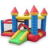 Owenqian Aufblasbares Schlag-Haus Kinder Schlauchboot Bounce Haus Trampolin Slide Jumper Haus mit...