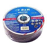 S&R Trennscheibe für Metall, Stahl, Edelstahl/INOX 125x1,0x22,23mm A60 S-BF. Set 25 Stück, für...