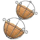 Baoblaze 2 Stcke Wandkorb hngenden Blumenkorb Korb geflochten, Handweberei