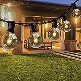 Opard Lichterkette Außen 7.5M 28er Lichterkette G40 Glühbirnen Glühbirnen Lichterkette Außen...