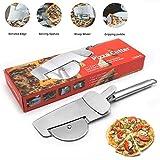 Hapree Pizzaschneider 4 in 1 Pizzaschaufel Pizzaschieber Edelstahl, Pizzaschere mit Schaufel und...