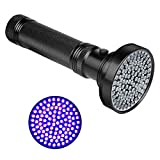 Veetop Schwarzlicht UV Taschenlampe mit 100 UV LEDs 395nm Superstrahlend Robust und Wasserfest