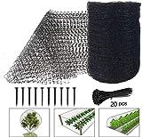 KJSMA Gartennetz, 2,1 x 10 m, wiederverwendbar, Vogelnetz, Hirschzaun Netz, Fischteichnetz fr...