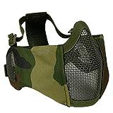 HIPENGYANBAIHU Battlefield Elite Ohrenschützermaske Outdoor Riding Atmungsaktive Wire Tactical Mask