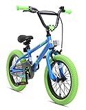 BIKESTAR Kinderfahrrad fr Mdchen und Jungen ab 4-5 Jahre | 16 Zoll Kinderrad Kinder BMX Freestyle |...
