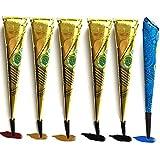 Janolia Satz von Tätowierung, Sicher Wasserdicht Tätowierung malen mit 4 Stück 3 farbe Einfügen...