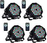 UKing 36 LED Bühnenlicht Par RGB DMX512 mit Fernbedienung,LED Par Scheinwerfer Beleuchtung...
