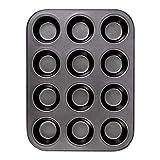 Veraing Muffinform, Metal Muffin Backblech Backform für 12 Muffins Antihaftbeschichtet 100%...