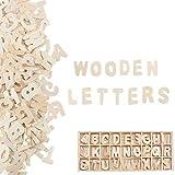 Pulluo 130 Stück Holzbuchstaben Deko Klein Buchstaben Holz Buchstabenkasten Alphabet ABC Natur...