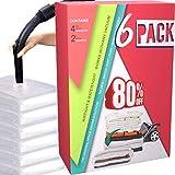 HELLOCAM vakuumbeutel für Kleidung Bettdecken Aufbewahrungsbeutel Wiederverwendbar (6er Set) 4...