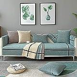 HXTSWGS Stretchhusse für Sofa,Northern Osame Pad, Vier Jahreszeiten Universal Kissen Stoff Sofa...