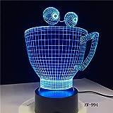 Nur 1 Stück Cartoon Cup Flasche Bunte Berührung Led Nachtlicht 3d Illusion USB Tischlampe für...