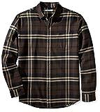 Amazon Essentials Herren Flanellhemd, Brown Plaid, Large