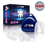 DERMATEST: SEHR GUT - jinoo ® Aufbissschiene - [4x] Zahnschutz gegen Zähneknirschen - mit...