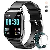 Smartwatch für Damen Herren Kinder, Fitness Armbanduhr 1,4 Zoll Touchscreen, Fitnessuhr Fitness...