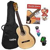 CASCHA 4/4 Konzertgitarre Starter Set I Hochwertige Gitarre für Anfänger und Kinder ab 10 Jahren I...