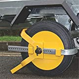PBQWER Auto Companion Robuste Wegfahrsperre, Radkralle, Große Oberfläche, Ideal für Autos,...