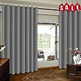 Flei Wohnzimmer Vorhang 120x170cm, Thermovorhänge, Blickdicht Thermo Schalldämmend, für...