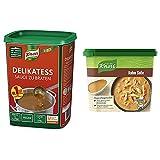 Knorr Delikatess Sauce zu Braten (pur als Bratensoße, Soßenbinder und zum Verfeinern), 1er Pack (1...