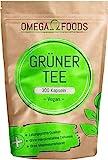 Grüner Tee Kapseln - 300 Kapseln 1.000mg pro Tagesdosierung - Qualität Der Grüner Tee Kapseln In...