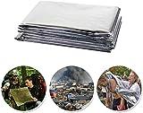 WJSW Emergency Survival Blanket, Folie Mylar Thermal Blankets Space Blanket fr Outdoor-Wanderungen...