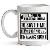 LPN Kaffeebecher - Sprüche Becher für lizenzierte praktische Krankenschwestern - Ich bin eine...