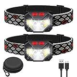 Kucoal LED Stirnlampe,1000 Lumen Superhell LED Wiederaufladbar Kopflampe mit Weißem Rotem Licht,2...