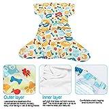 Wiederverwendbare Babywindel, Einheitsgröße Super saugfähige Baby-Schwimmwindel Waschbare...