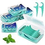 BEYAOBN Zahnseide Sticks 5-Pack 300 Stück,Einwegzahnseide Dental Floss mit tragbarem Reiseetui und...