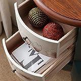 Wohnzimmerschrank Massivholz-Side Schließfächer Kleine Seitenschränke Handgemalte Kleiner runder...