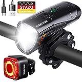 SGODDE LED Fahrradlicht Set, StVZO Fahrradlampe Fahrradbeleuchtung USB Wiederaufladbare wasserdichte...