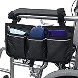 YFGlgy Rollstuhltasche, Rollstuhlzubehör, wasserdichte Rollstuhltaschen Organizer zum Aufhängen an...