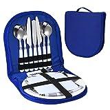 DONGKIKI 10-teiliges Utensilien-Set für Picknick, Camping, Besteck, Besteck, Organizer, Camping,...