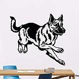 ganlanshu Hund Wandtattoo Haustier Deutscher Schäferhund Poster Vinyl Wandaufkleber Dekoration...