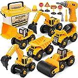 Dreamon Montage LKW Spielzeug, Bagger Spielzeug mit Elektro-Drill für Bagger sandkasten Kinder...