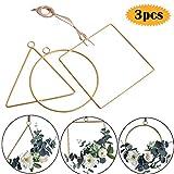 Bluesees Metallkranz, 3 Stück, vergoldetes Metall, rund, dreieckig, Kreolen, für DIY...