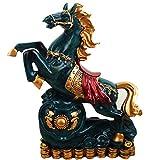 J.Mmiyi Feng Shui Pferd Statue Deko Wohnzimmer Skulptur Zuhause Büro Dekoration Ornamente Für...