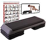 Steppbrett Profi XXL Fitness Set Aerobic Stepbench 110 x 42 cm (Steppbrett)