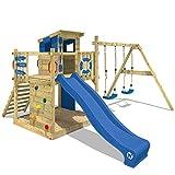 WICKEY Spielturm Smart Camp - Klettergerüst mit Stelzenhaus, massivem Holzdach, Schaukel,...