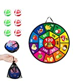 huaqiang194 Dart Board Game for Kids,Fruit Classic Foldable Wall-Mounted Dart Board Set,Children's...