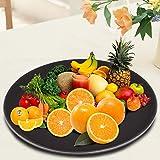 Schwarze Servierplatte, Servierteller, Serviertablett, für Wohnküchenzubehör für Restaurant für...