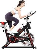 YANJ Indoor Heimtrainer Spinning Bike Einstellbare Lenker & Seat, LCD-Display mit Widerstand, Max...