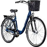 Zündapp Z700 Damen Fahrrad Damenfahrrad Tiefeinsteiger mit Korb City Bike V Brake Retro Fahrrad...