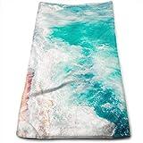Dnwha Polyester-Handtuch, schönes Meer und Strand, super weich, Gesichtswaschen- und Haarpflege,...