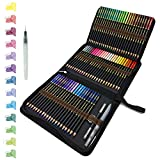 tvfly 72 Professionelle Aquarell Bleistifte, Aquarellstifte Set mit Premium Black Zipper Case...