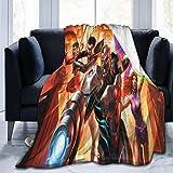 KJHSJ Cartoon Anime Teen Titans gehen! Decke Superweiches Fleece Warme Flauschige Decken...