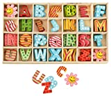 Kleenes Traumhandel Buchstabenkasten Holz Bunt - 2,5 cm hoch - je 4 hölzerne Buchstaben mit...