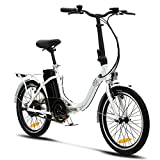 VecoCraft Nemesis Elektro Klapprad,E Bike 20 Zoll,E-Folding Bike mit ausziehbarer Baterrie 36V...