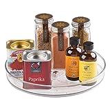 iDesign Küchen Organizer, kleiner Drehteller aus BPA-freiem Kunststoff für den Vorratsschrank,...